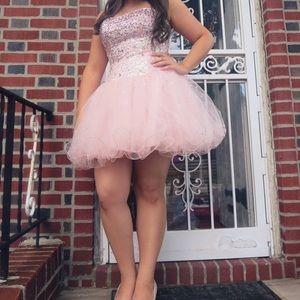 Light Pink Sparkly Prom Dress✨